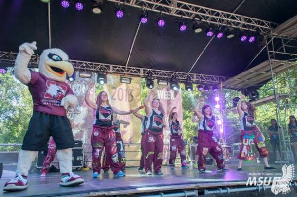 Students rocking it out at Airbands. Photo courtesy of the MSU.